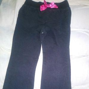 Disney Black Stretchy Pants W/Pink Bow & ❤Back